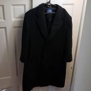 mens long, black dress coat